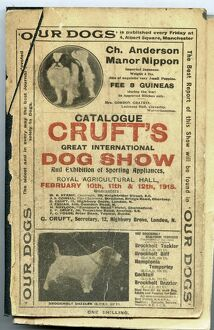 1915 Crufts Catalogue cover