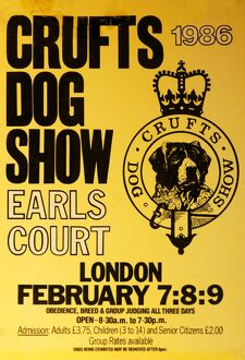 Crufts Dog Show poster 1986