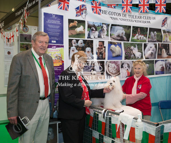 Discover Dogs Best Booth : Toy Dog Group awarded to The Coton De Tulear Club of The United Kingdom    Judges:  Jim & Betty Peach