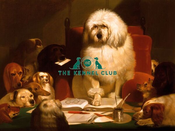 Laying Down the Law. Landseer helped popularise anthropomorphism in art