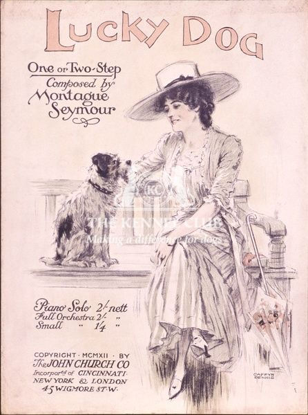 Lucky Dog. Vintage dog sheet music entitled, Lucky Dog by Montague Seymour