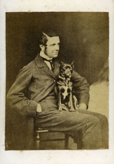 CDV Manchester Terrier Man hand in pocket 1860