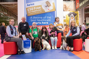 crufts 2019/cocker english springer spaniel rescue staff agria