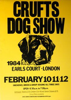 Crufts Dog Show poster 1984