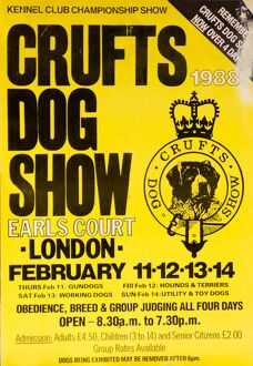 Crufts Dog Show poster 1988