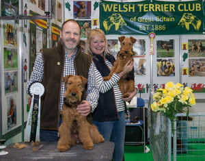 Discover Dogs Best Booth : Terrier Group awarded to Welsh Terrier Club